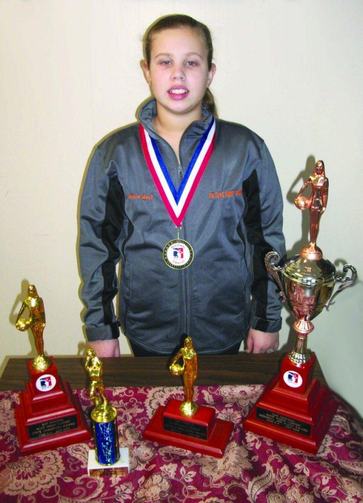 Jacie West - State Hoop Shoot Champ, 4th in Region #1