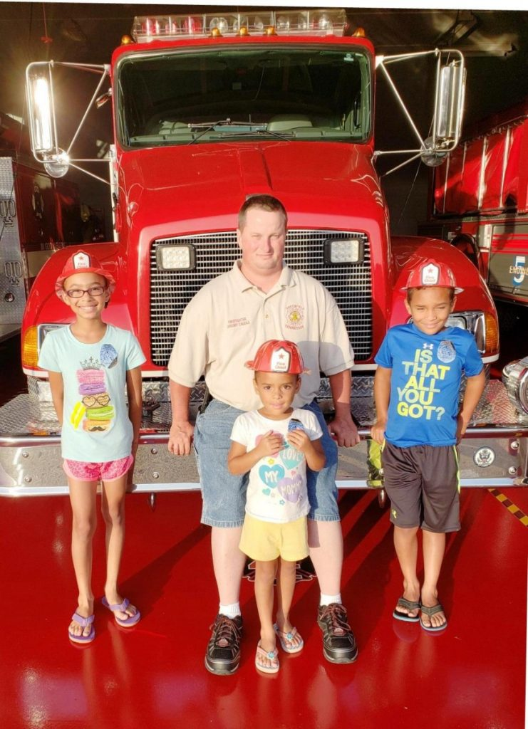 3 little firefighters recognized by Greenfield F.D. (TIFF)