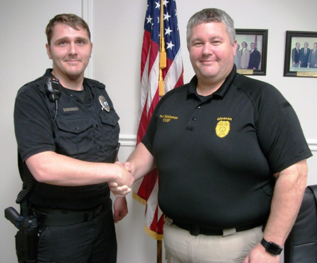 New Gleason P.D. Officer - Kyle Bratton