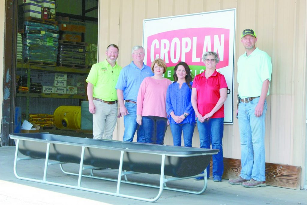 (L to R): The LFN Nourishing Connection Farm-to-Preschool Program got a jumpstart with generous resources, time and donations from the following partners: Paul Wilson: Weakley Farmers Co-Op Manager, Keith Fowler: Vice-Chairman of Tennessee Farmers Cooperative State Board, Linda Fowler: Weakley County Farm Bureau Women's President, Terri Brundige: Weakley County Farm Bureau Women, and Ben Moore: President of the Weakley Country Farm Bureau Board.