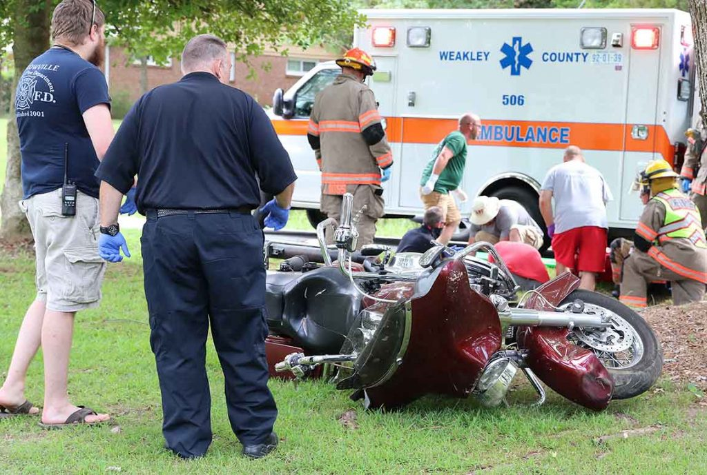 A Jackson man was airlifted to a regional hospital, following a single-vehicle motorcycle accident near McKenzie.