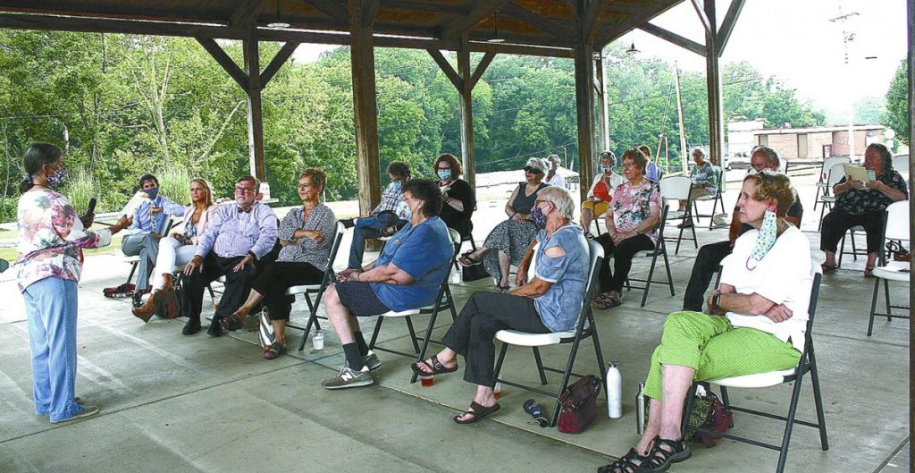 "Twenty-seven members of the Weakley County community gathered under the Terry Oliver Plaza Dresden Farmers Market Pavilion Thursday morning as part of the 9th annual Big Read event for an inspiring discussion about the novel, ""Gilead,"" by Marilynne Robinson."