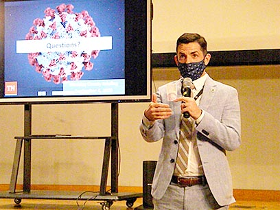 "Weakley County Mayor Jake Bynum asks Weakley Countians to continue to ""mask up"" in response to the COVID-19 pandemic."