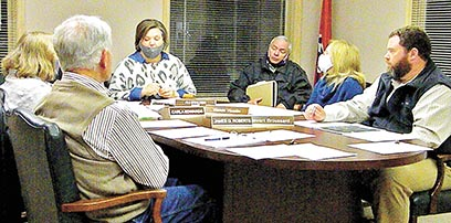 Sharon City Attorney Jeff Washburn was on hand during the City of Sharon's first regular board meeting of the year Monday evening. City council members moved forward with the formation of a Condemnation Board and sought advice from attorney Washburn.
