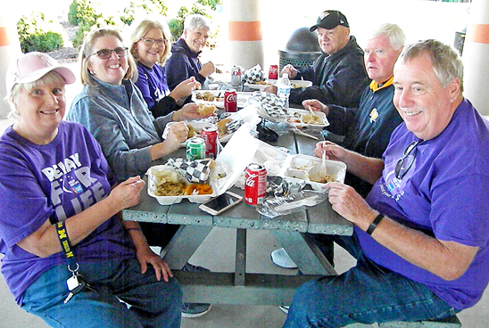 Survivors and caretakers were welcomed to a Survivors' Dinner before the evening's festivities Saturday at the Martin Rec Complex for the annual Relay For Life.